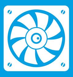 Computer fan icon white vector