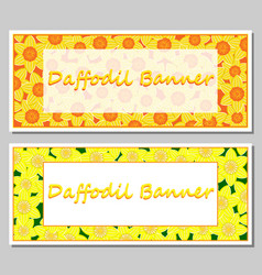 daffodil banner template vector image vector image
