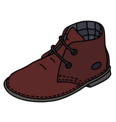 dark red suede shoe vector image vector image