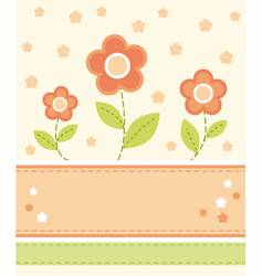 floral card design vector image vector image