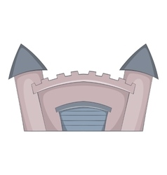 Fortified medieval castle icon cartoon style vector image