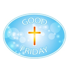 Good friday with cross banner vector