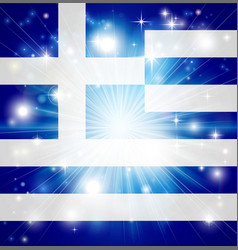 greek flag background vector image vector image