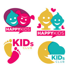 kids place with entertainments bright promotional vector image