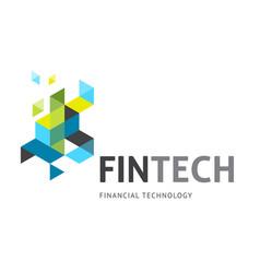 Modern logo concept design for fintech vector