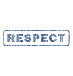 Respect textile stamp vector