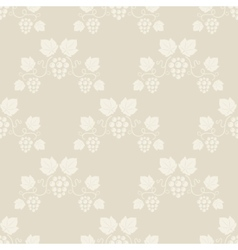 Seamless grape vines beige background vector