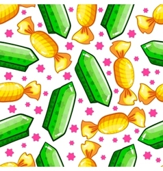 Seamless pattern with candy vector image vector image