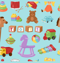 set of different cartoon kids toys vector image vector image