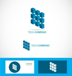 Tech technology company logo symbol chip vector