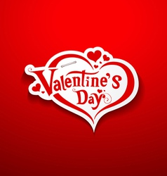 Valentine day message on red background vector image vector image