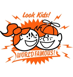 World famous kids vector