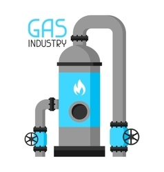 Injection and storage of gas industrial vector