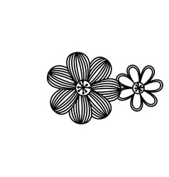 figure flowers with ovals petals icon vector image