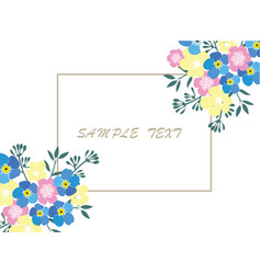 Business card floral vector
