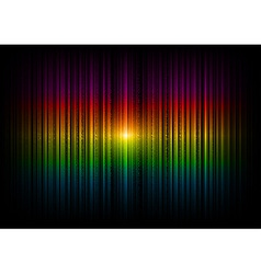 V horizontal lines abstract rainbow dark vector