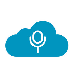 Thin line cloud sound icon vector