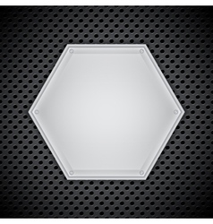 Metal circular grid vector