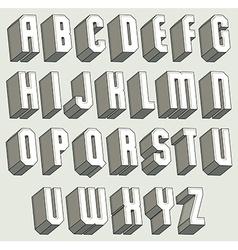 3d font geometric dimensional letters set vector