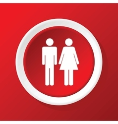Couple icon on red vector