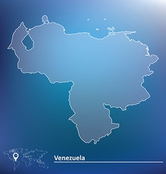 Map of venezuela vector