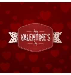 Little realistic valentines day banner with text vector
