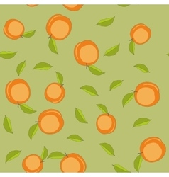 Seamless pattern with cartoon peaches fruits vector