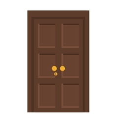 Door icon house design graphic vector