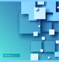 Abstract blue 3d mosaic background vector