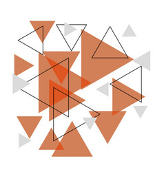 Abstract orange triangle banner background vector
