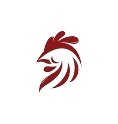 Abstract rooster logo template vector image vector image