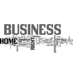 are you in the right business text word cloud vector image vector image