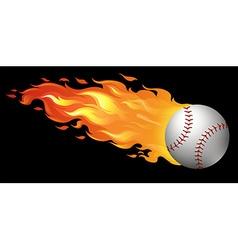 Baseball on fire vector
