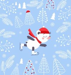 Bears Skating-1 vector image vector image