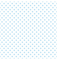 Blue polka dots on white background tile pattern vector image