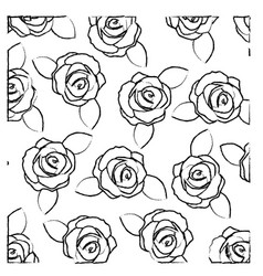 Blurred silhouette of pattern with roses and vector