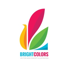 Bright colors - logo template vector