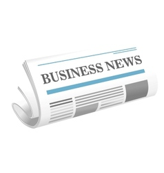 Business news paper icon vector image