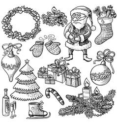 Christmas set vector