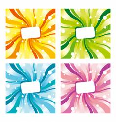 colorful labels vector image vector image