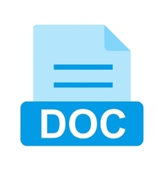 DOC File vector image vector image