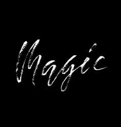 Handwritten magic word vector