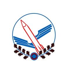 icon with a rocket vector image vector image