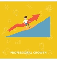 Improving the corporate ladder professional growth vector