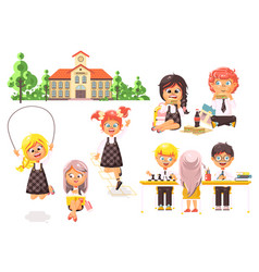 isolated children characters vector image vector image