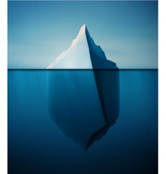 Lonely iceberg vector