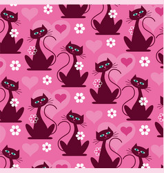 Mod cat pattern background pattern vector