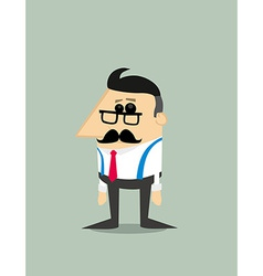 Older Cartoon businessman vector image vector image