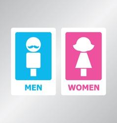 Restroom Sign Color vector image vector image