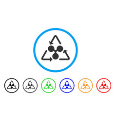 Ripple recycling rounded icon vector